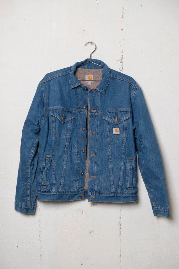 Vintage 90's Carhartt Lined Denim Trucker Jacket M