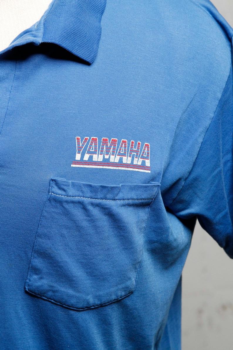 Vintage 80/'s Yamaha Motorcycles Polo Shirt RARE Soft XL 0220