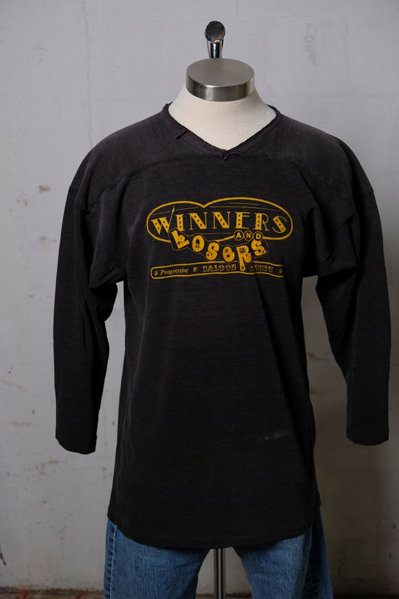 Vintage 70's Winners & Losers Progressive Saloon Music Heavy 3/4 Sleeve Jersey Shirt Rare! L