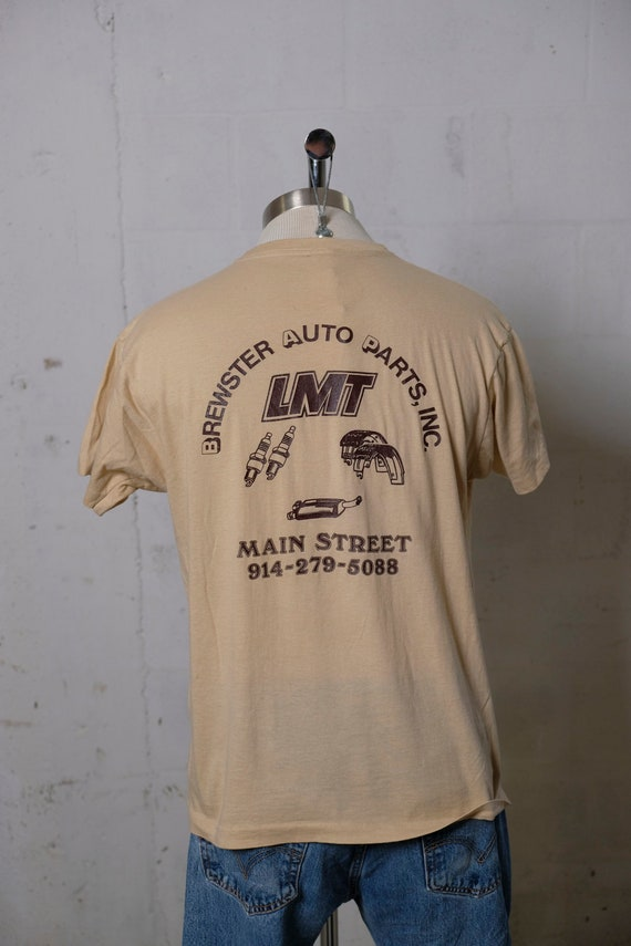 Vintage 80's Brewster Auto Parts Inc T Shirt Soft! Thrashed! XL