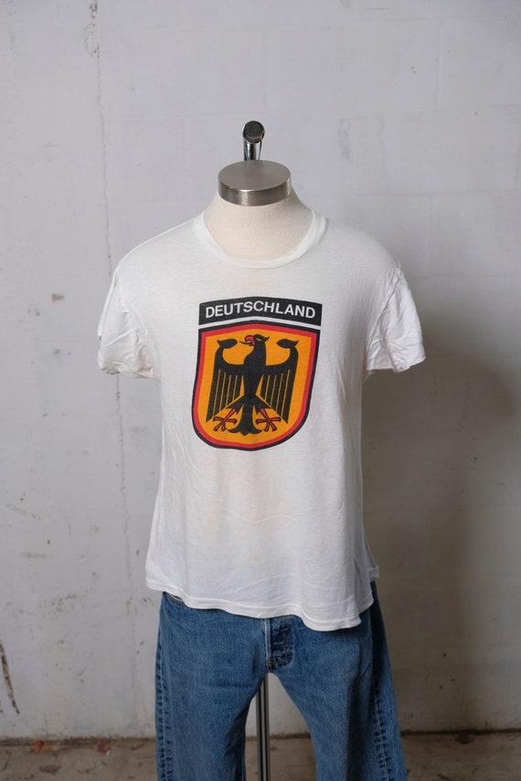 Vintage 80's Deutschland Germany Destination T Shirt Soft! Thin! S