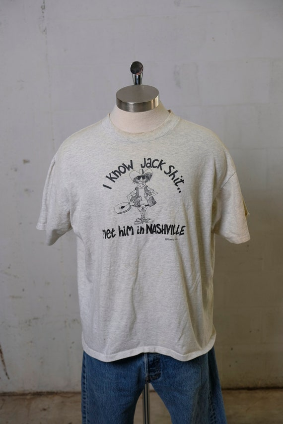 Vintage 90's I Know Jack Shit Nashville T Shirt Humor! Country Music! Rare! XL