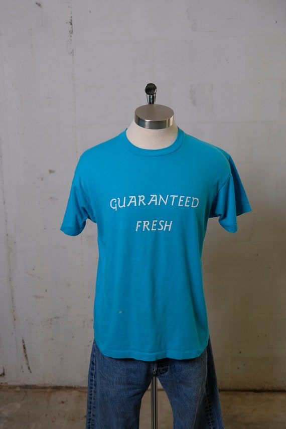 Vintage 80's Guaranteed Fresh Bartlett Florist T Shirt Soft! Thin! XL