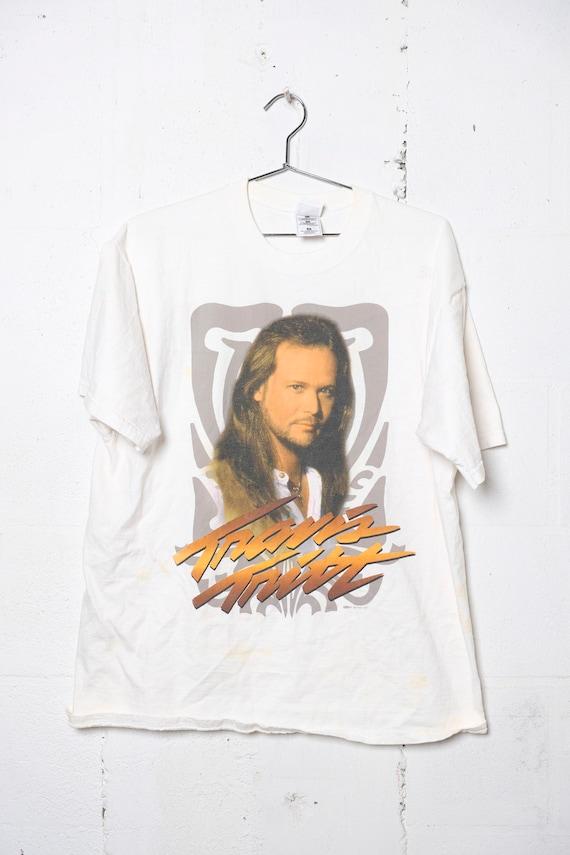 Vintage 1997 Travis Tritt Country Band Concert Tour T Shirt Thrashed! XL