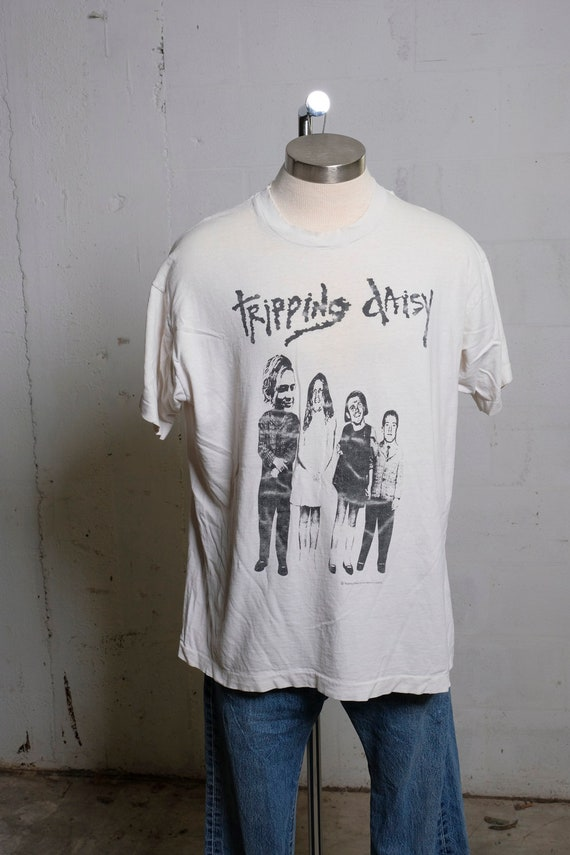Vintage 1993 Tripping Daisy Lure Tour Concert Band T Shirt Rare! Thrashed! XL