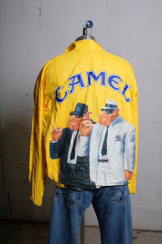 Vintage 90's Camel Cigarettes Joe Camel Tyvek Windbreaker Light Jacket XL