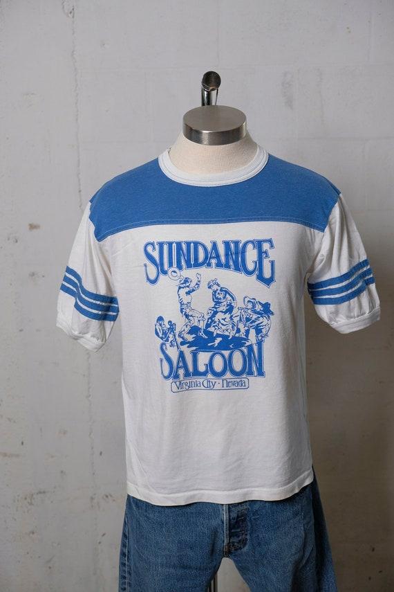 Vintage 80's Sundance Saloon T Shirt Virginia City Nevada Soft! L