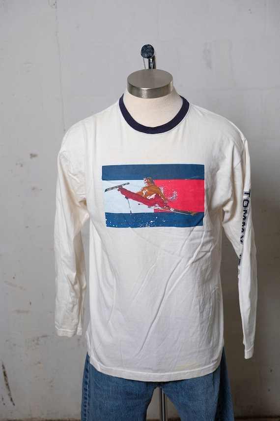 Vintage 90's Tommy Jeans L/S Skiing T Shirt Rare! S