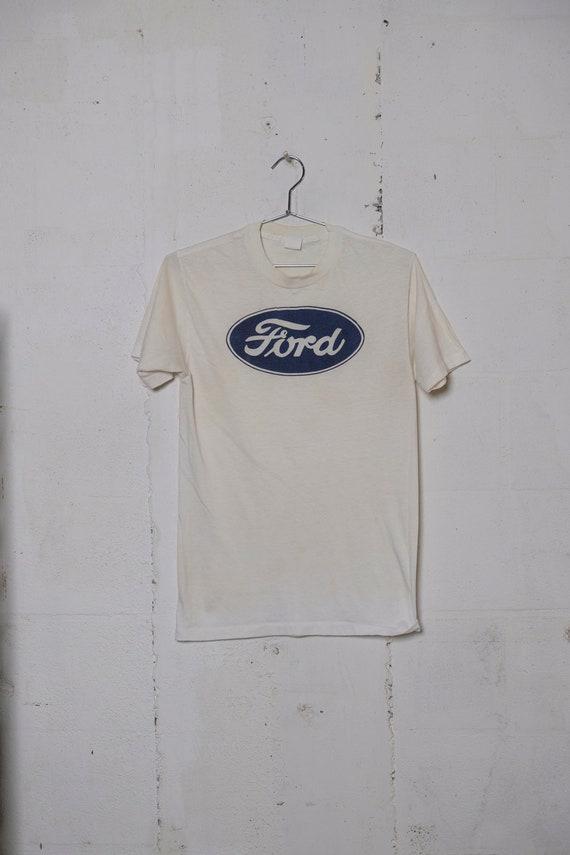 Vintage 70's Ford Motor Car Company Logo T Shirt Rare! Soft! Racing! L