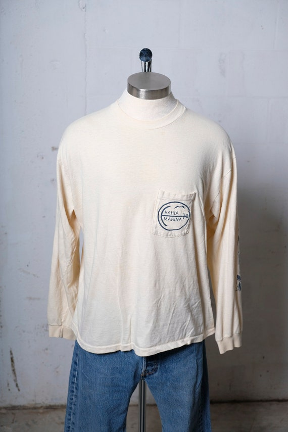 7f3cc848b ... Vintage 80's Bahia Marina Ocean City Maryland Long Sleeve T Shirt Soft!  Rare!