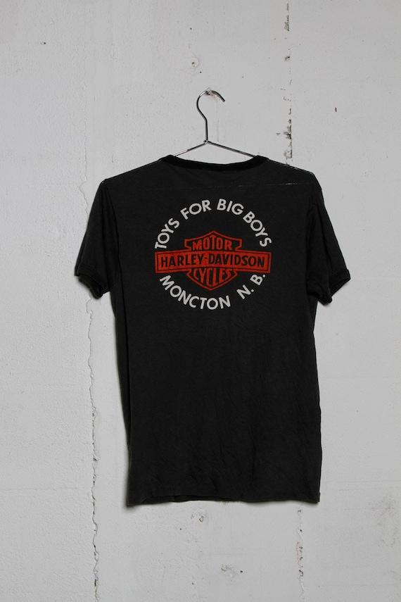 S Made RARE Shirt Motorcycle In Biker B T Dealer N Harley 1970's Davidson Usa Moncton Vintage BXZpX