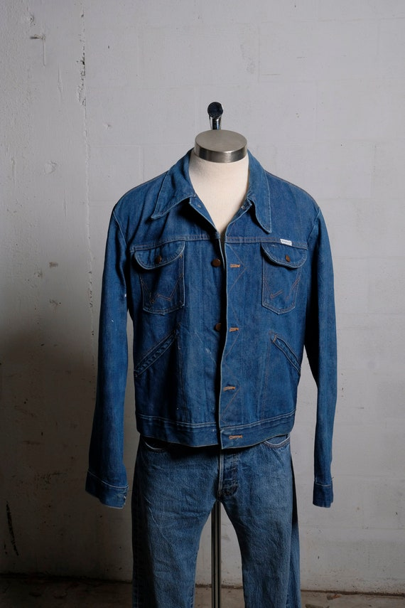 Vintage 70's Wrangler Sanforized Denim Trucker Jacket M