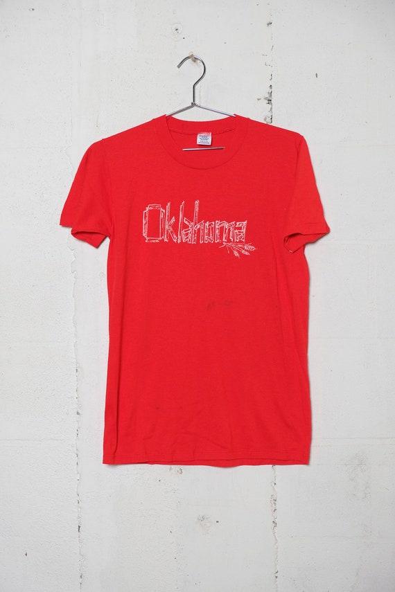 Vintage 80's Oklahoma Destination T Shirt Soft! Rare! M