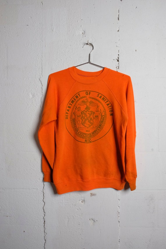 Vintage 80's New York City Sanitation Department Sweatshirt Thrashed! S