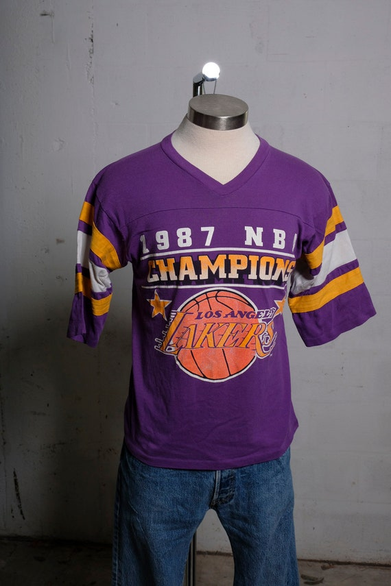 Vintage 1987 Los Angeles Lakers NBA Champions Jersey S