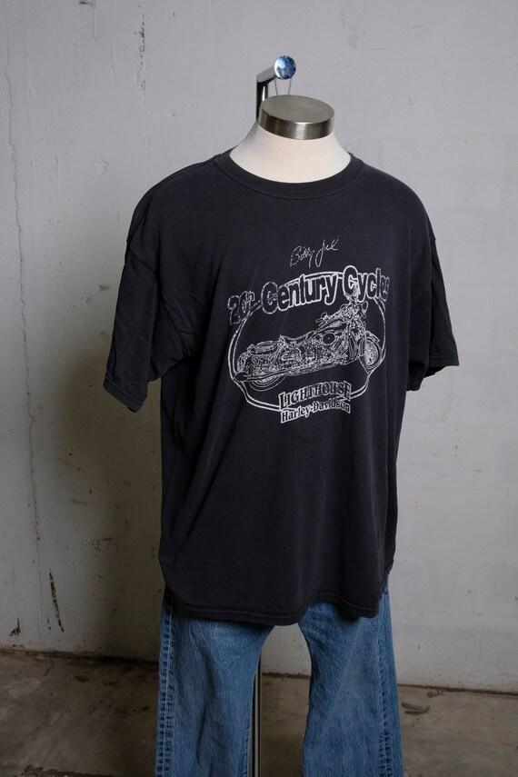 Vintage 90's Billy Joel 20th Century Cycles Harley Davidson T Shirt Soft! XL