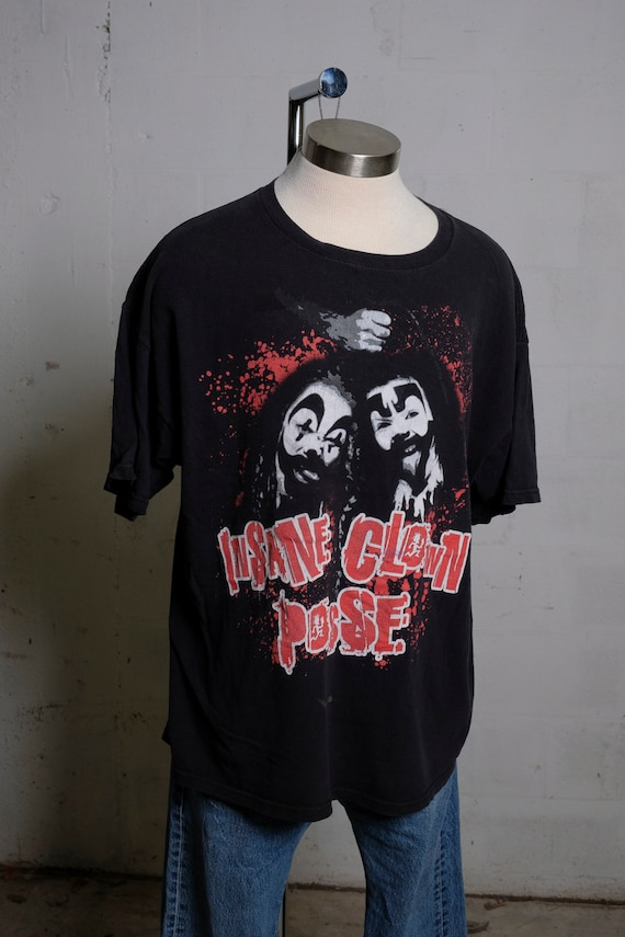 Vintage 90's ICP Insane Clown Posse Band Shirt Double Sided XXL