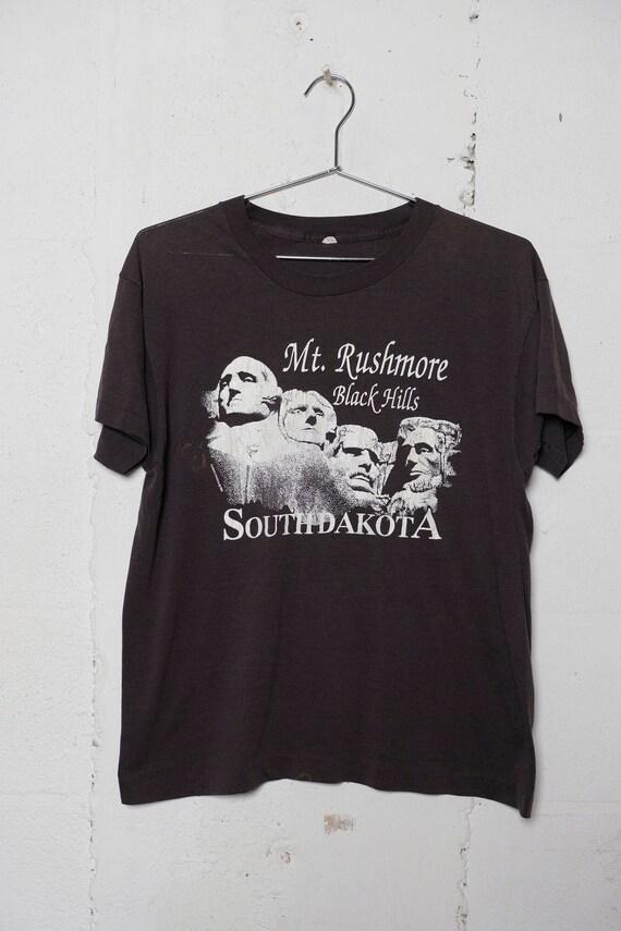Vintage 80s Mt. Rushmore Black Hills South Dakota T Shirt Soft! Thin! L