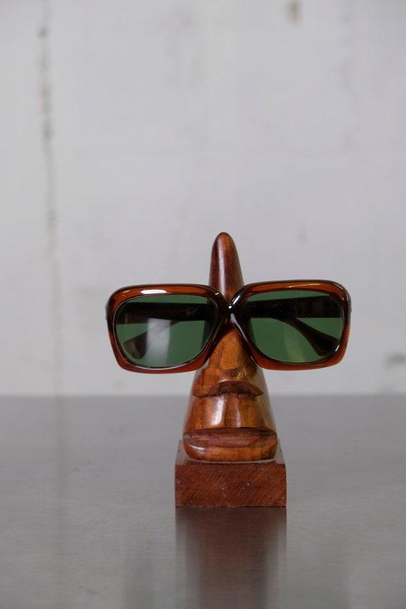 Vintage 60's Womens Mid-Century Mod Sunglasses Rare Amber Color