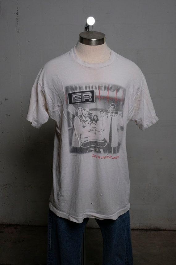 Vintage 1996 ER Television Show T Shirt Thrashed!  Soft!