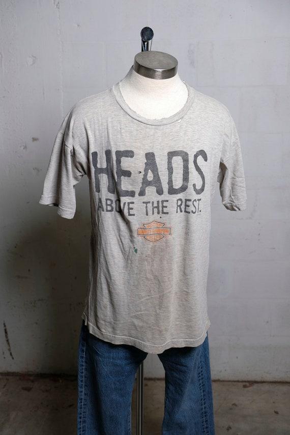 Vintage 90's Harley Davidson Proudfoot Motorcycles Ft Myers Florida Dealer T Shirt Thrashed! L