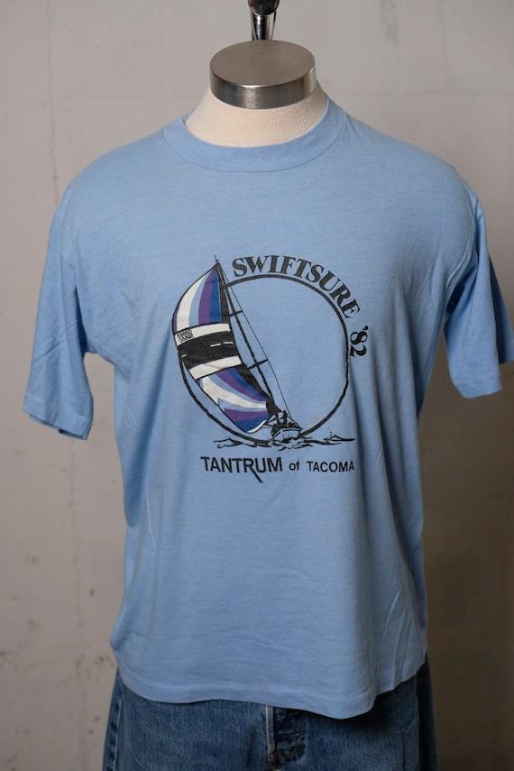 Vintage 1982 Swiftsure Tantrum of Tacoma Sailing T Shirt Soft! XL