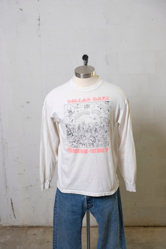 Vintage 90's Dollar Daze Couch Freak Booge LS T Shirt Amazing Graphic! L