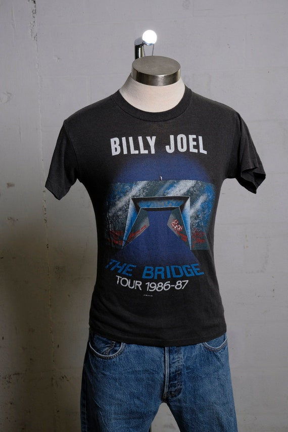 Vintage Billy Joel 1986-87 The Bridge Concert Tour T Shirt Soft! Rare! M