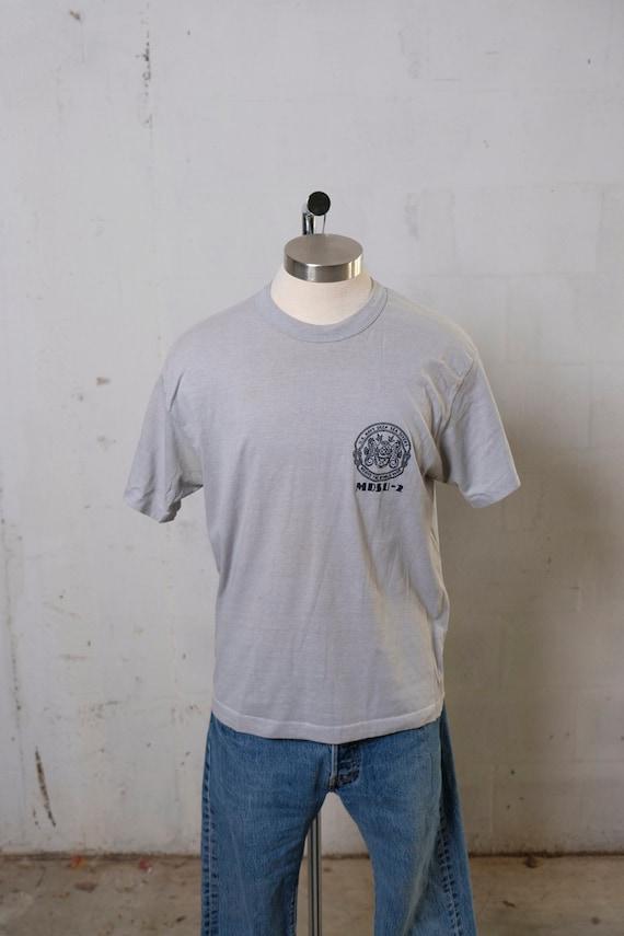 Vintage 80's U.S. Navy Deep Sea Divers T Shirt Soft! Rare! XL