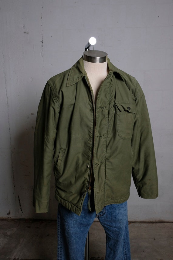 Vintage 70's US Army Olive Green Field Jacket Vietnam Era M