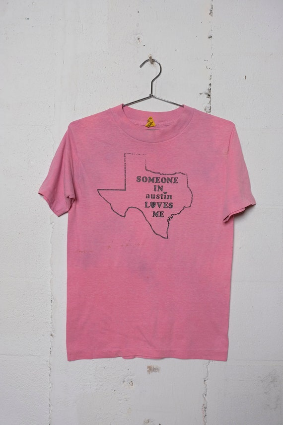 Vintage 80's Somebody In Austin Texas Loves Me Toruist T Shirt Soft! Thrashed! M