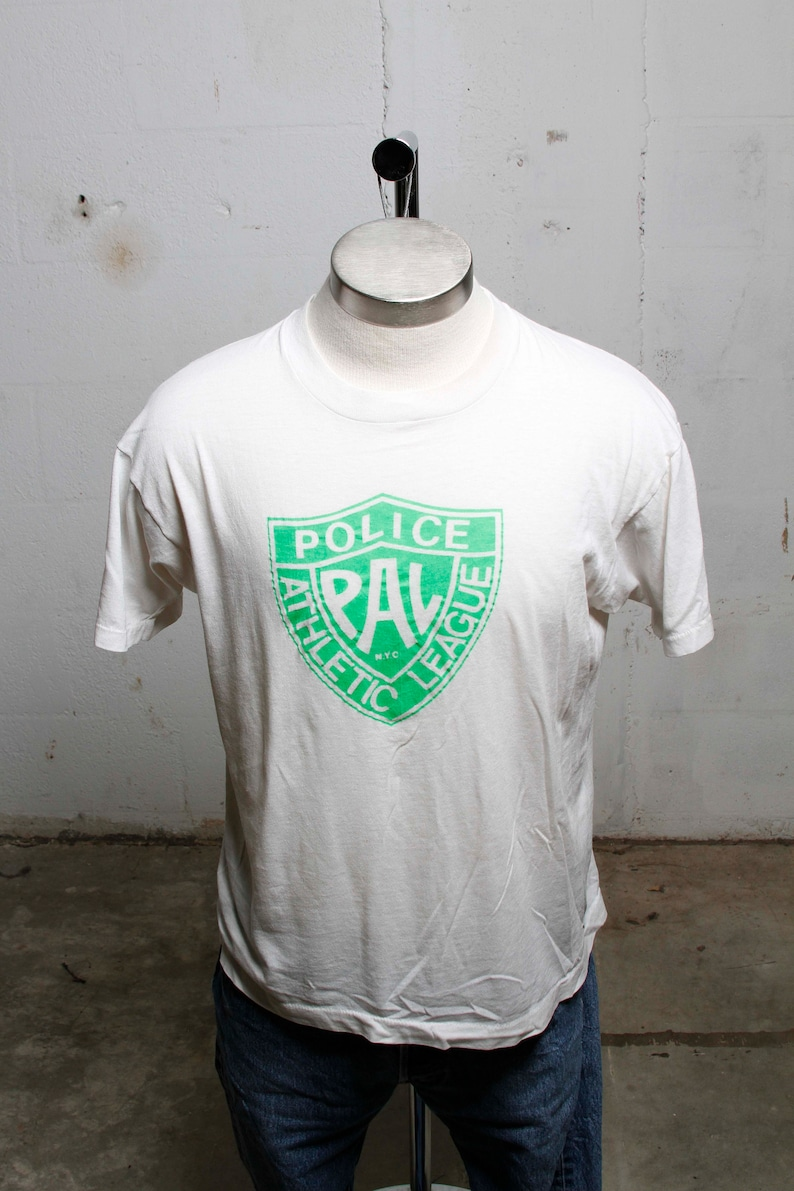 50f999bf593b Vintage 80 s NYC Police Athletic League Save Water T Shirt