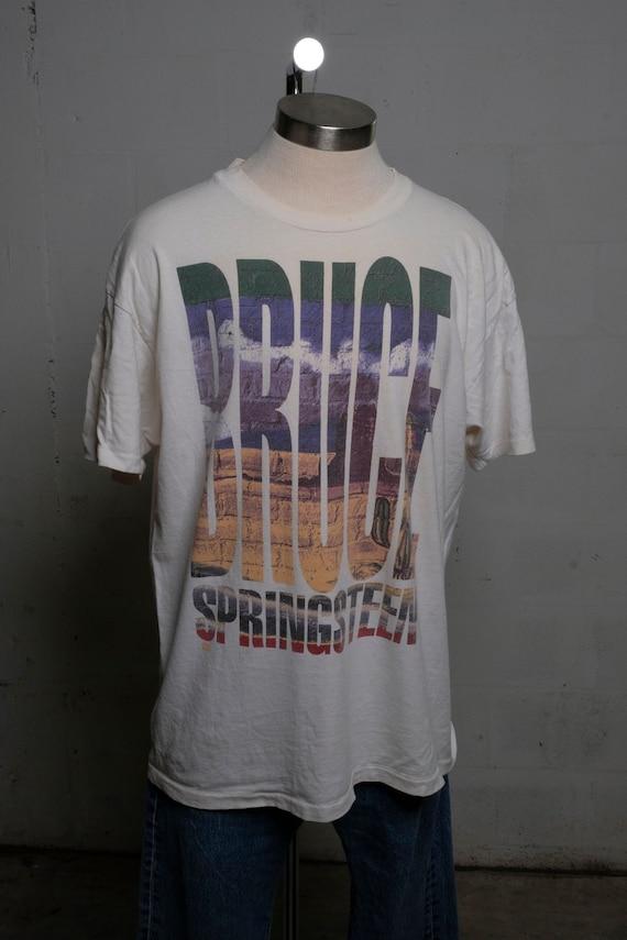 Vintage 1992-93 Bruce Springsteen World Tour Rock Concert Band T Shirt Soft! XL