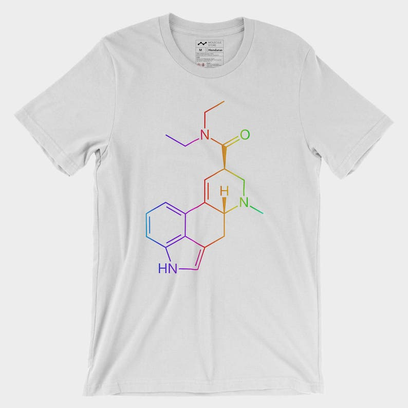 4c89b50c3 Colorful LSD Molecule T-Shirt | Etsy
