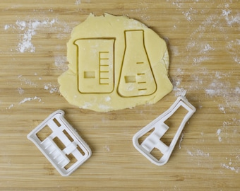 Beaker + Erlenmeyer Flask Chemistry Cookie Cutter Set