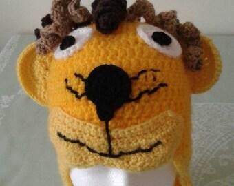 Handmade crochet lion hat