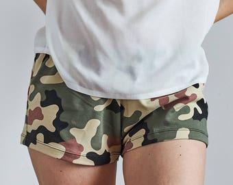 Сamouflage Pajama shorts, Boxers, Sleepwear, Homewear, Bridesmaid Gift, Funny Pajamas, Jersey Boxers, Сamouflage Print, Military Boxers Mama