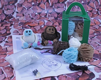 Wicked Chickens Yarn Wickedly Skookum Pocket Sasquatch and Yeti Knitting Kit