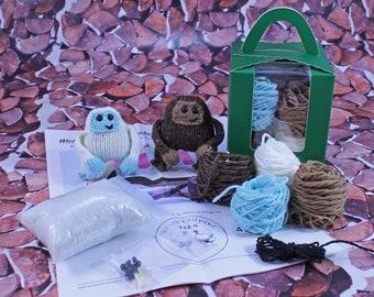 Wicked Chickens Yarn Wickedly Skookum Pocket Sasquatch and Yeti Knitting Kit
