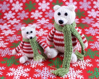 Wicked Chickens Yarn Wickedly Peaceful Polar Bear Christmas Ornament Knitting Pattern Instant Download PDF