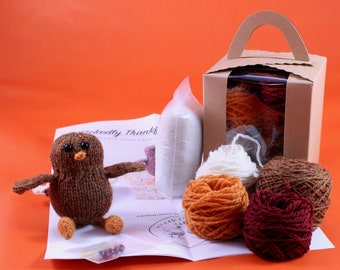 Wicked Chickens Yarn Wickedly Thankful Pocket Turkey Knitting Kit