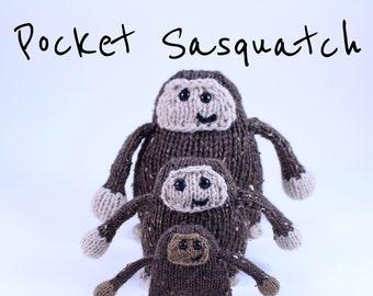 Wicked Chickens Yarn Wickedly Skookum Pocket Sasquatch and Yeti Knitting Pattern Instant Download PDF