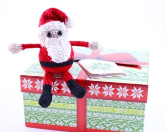 Wickedly Cute Santa Christmas Ornament Knitting Pattern PDF by Wicked Chickens Yarn Great For Christmas and Holiday Decorating
