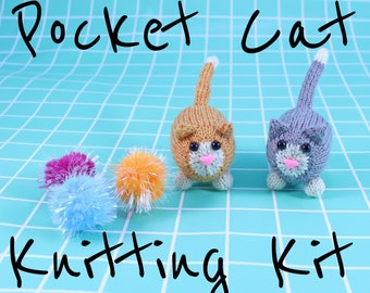 Wicked Chickens Yarn Wickedly Frisky Pocket Cat Knitting Kit