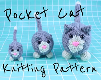 Wicked Chickens Yarn Wickedly Frisky Pocket Cat Knitting Pattern Instant Download PDF