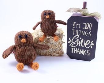 Wicked Chickens Yarn Wickedly Thankful Pocket Turkey Knitting Pattern Instant Download PDF