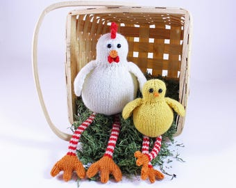 Wicked Chickens Knitting Pattern PDF by Wicked Chickens Yarn Great ForChicken Lovers Urban Homesteaders and Decorating
