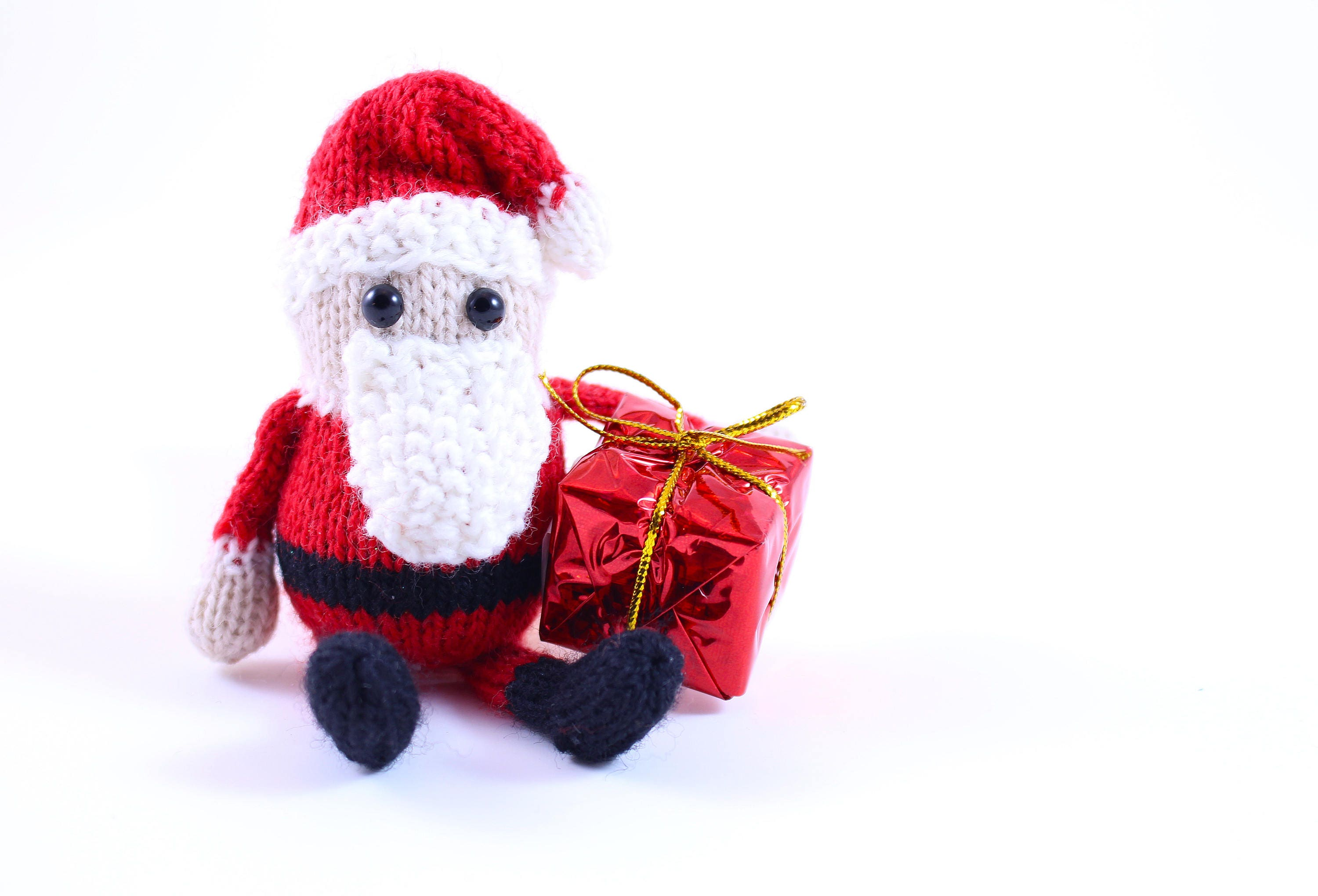 Wickedly Cute Santa Christmas Ornament Knitting Pattern PDF by ...
