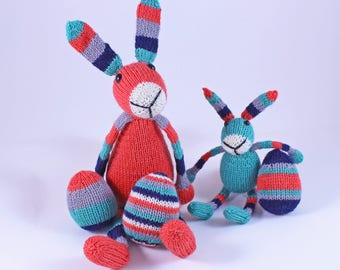 Wicked Chickens Yarn Wickedly Colorful Easter Bunnies Knitting Pattern PDF With Easter Eggs Knitter Gift Or Easter Basket Gift Or Decorating