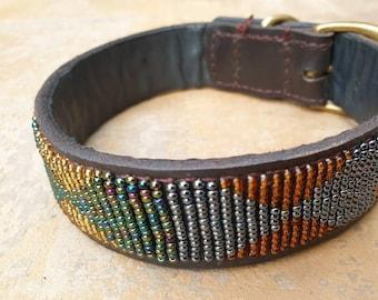 Beaded dog collar | Etsy